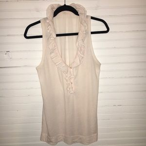 J. CREW | LARGE | RUFFLED SLEEVELESS TOP
